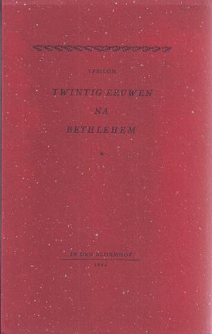 YPSILON, PS. VOOR P.O.BAKKER - Twintig Eeuwen Na Bethlehem