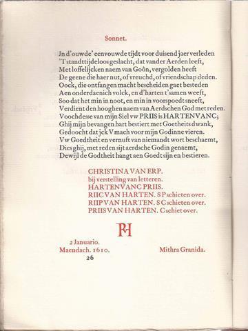 HOOFT, P.C. - Sonnetten