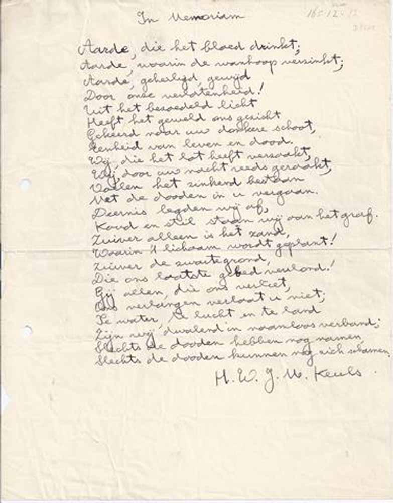 KEULS, H.W.J.M. - Wegen En Wolken/ Verzamelde Gedichten IV