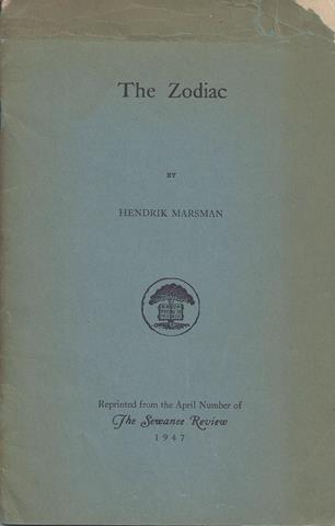 MARSMAN, HENDRIK - The Zodiac
