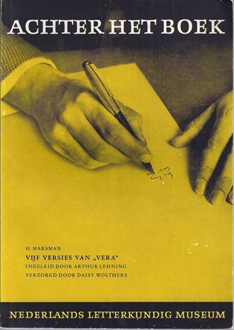 MARSMAN, H. OVER; DOOR ARTHUR LEHNING INGELEID EN VERZORGD DOOR DAISY WOLTHERS - Achter Het Boek Jaaargang 1, Aflevering 2,3; H. Marsman; Vijf Versies Van