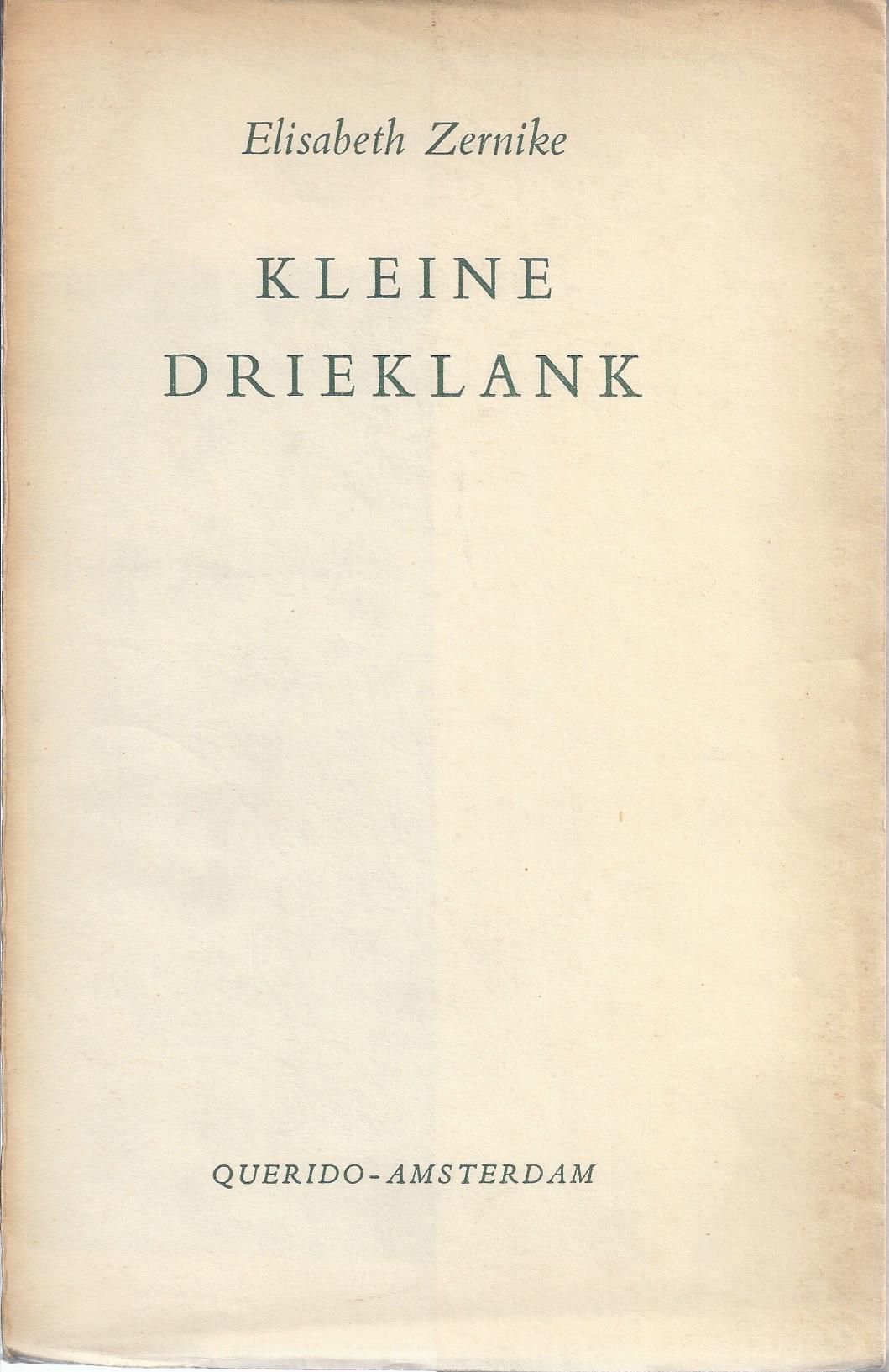 ZERNIKE, ELIZABETH 1891-1982) - Kleine Drieklank