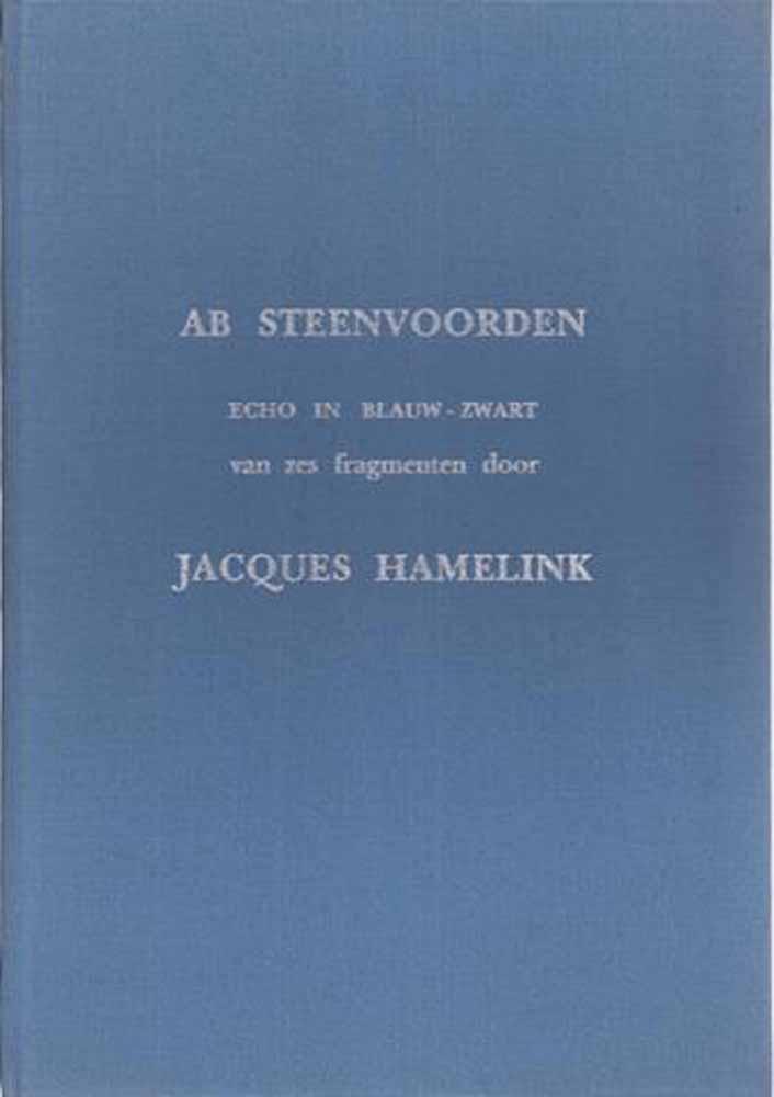 HAMELINK, JACQUES - Echo in Blauw-Zwart