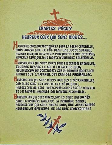 PÉGUY, CHARLES - Heureux Ceux Qui Sont Morts