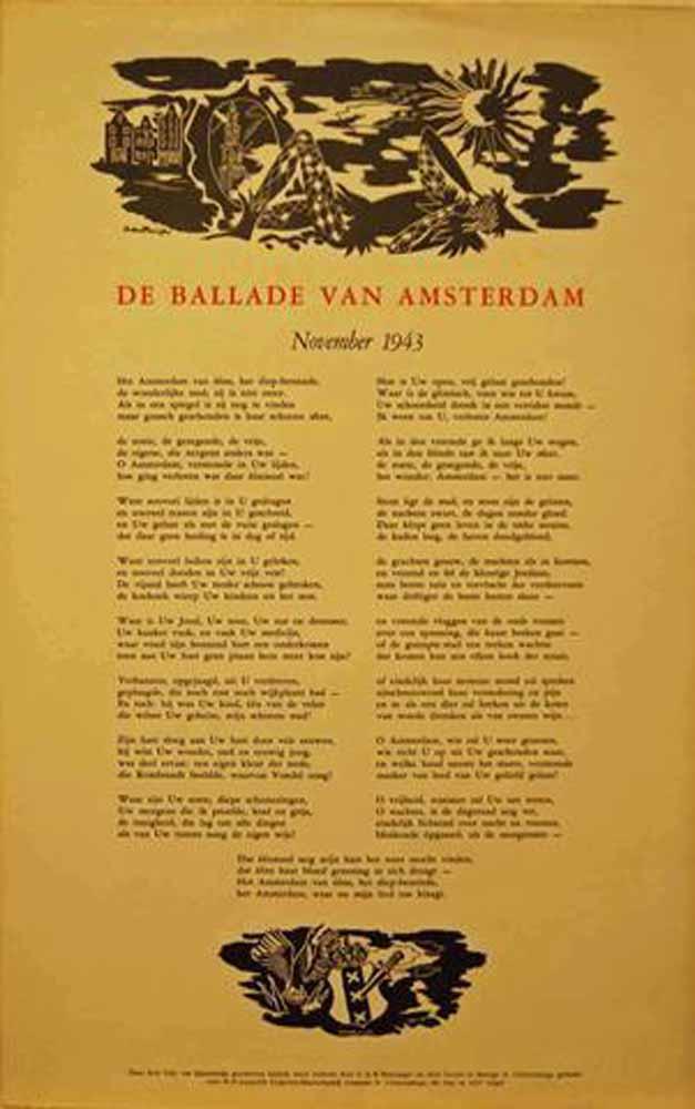EIJSSELSTEIJN, LIDY VAN - De Ballade Van Amsterdam, November 1943