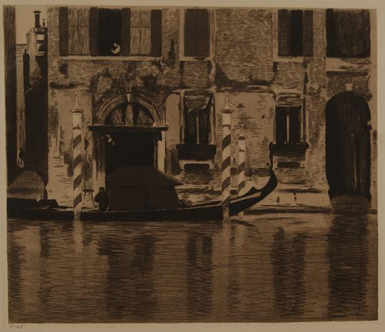 WITSEN, WILLEM (1860-1923) - Venetië, Gondel Met Opbouw in Het Canale Grande